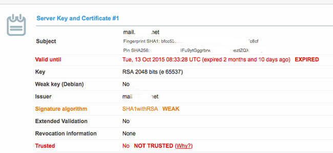 Certificato debole