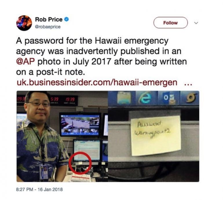 Password sui post-it