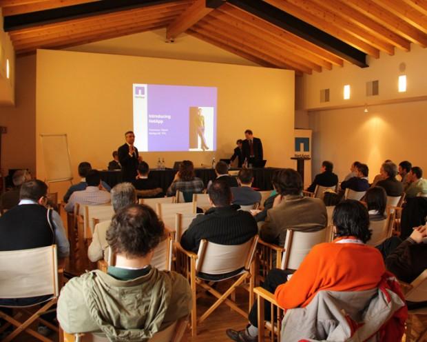 Un momento del seminario: l'introduzione a NetApp